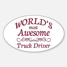 Awesome Truck Driver Decal
