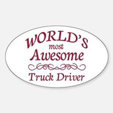 Awesome Truck Driver Sticker (Oval)