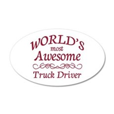 Awesome Truck Driver Wall Decal