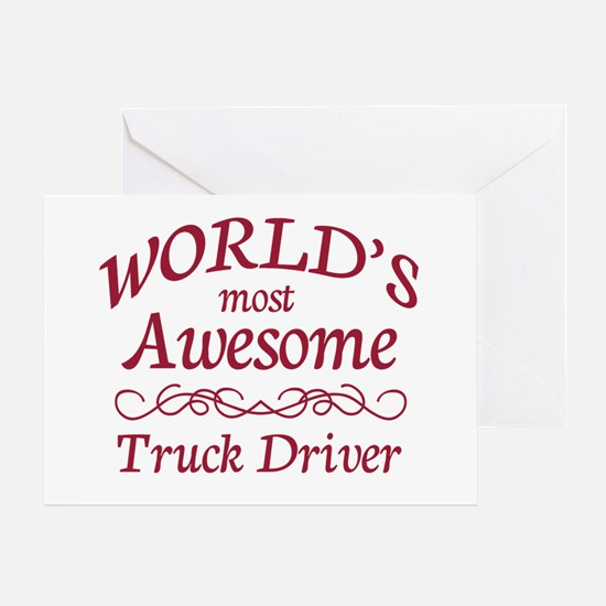 Awesome Truck Driver Greeting Card