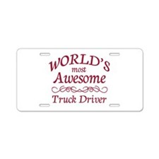 Awesome Truck Driver Aluminum License Plate