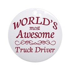 Awesome Truck Driver Ornament (Round)