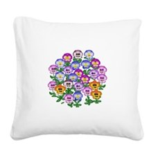 Pansies Square Canvas Pillow