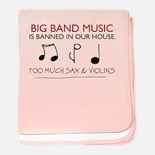 'Big Band Music' baby blanket