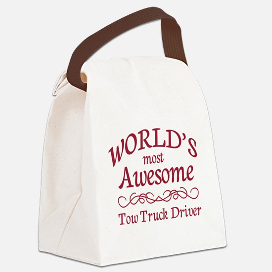 Awesome Tow Truck Driver Canvas Lunch Bag