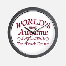 Awesome Tow Truck Driver Wall Clock