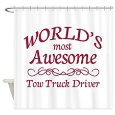 Awesome Tow Truck Driver Shower Curtain