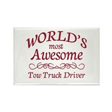 Awesome Tow Truck Driver Rectangle Magnet