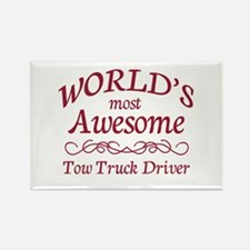 Awesome Tow Truck Driver Rectangle Magnet (10 pack