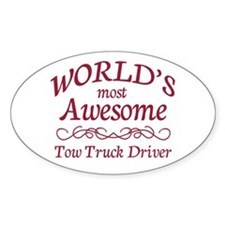Awesome Tow Truck Driver Decal