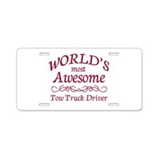 Awesome Tow Truck Driver Aluminum License Plate