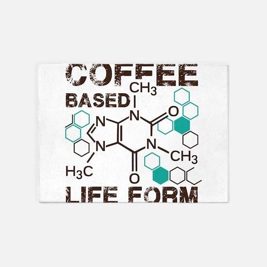 Coffe based life form 5'x7'Area Rug
