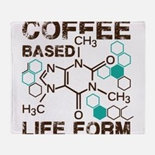 Coffe based life form Throw Blanket