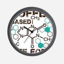 Coffe based life form Wall Clock