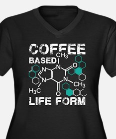 Coffee based life form Women's Plus Size V-Neck Da
