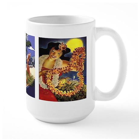 Vintage Hawaiian Hula Large Mug