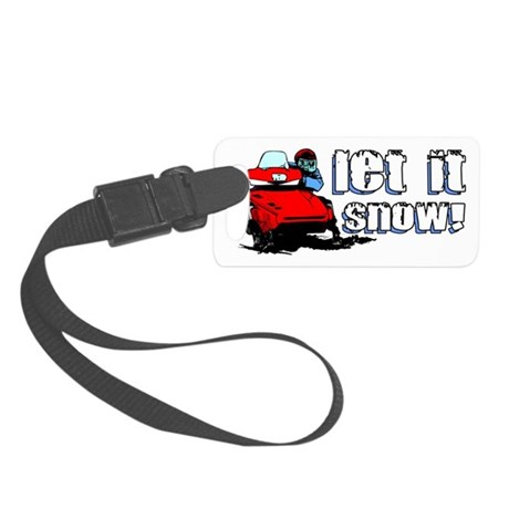 Let It Snowmobile Small Luggage Tag
