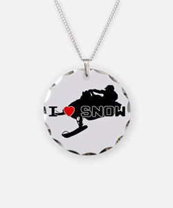 I Heart Snow Necklace
