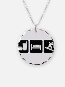 EatSleepSnowboardDesign2.png Necklace