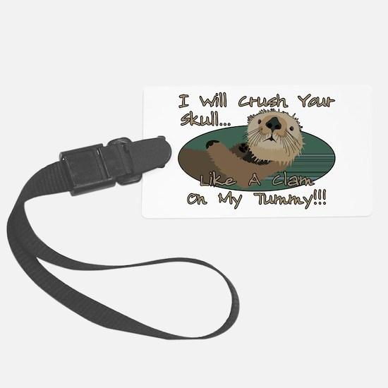 Otter Skull Crush Luggage Tag