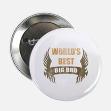 "World's Best Big Bro (Wings) 2.25"" Button"