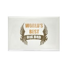 World's Best Big Bro (Wings) Rectangle Magnet