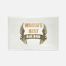 World's Best Big Bro (Wings) Rectangle Magnet