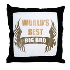 World's Best Big Bro (Wings) Throw Pillow