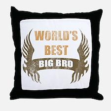 World's Best Big Bro (Wings) Throw Pillow