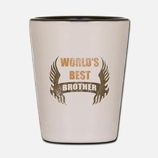 World's Best Brother (Wings) Shot Glass