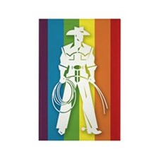The Gay Cowboy Rectangle Magnet