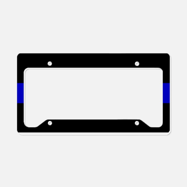 Cute Police License Plate Holder