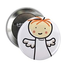 "Angel Stick Person 2.25"" Button"