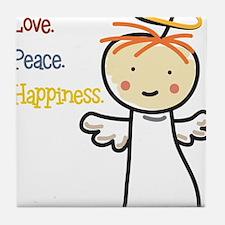 Love Peace & Happiness Tile Coaster