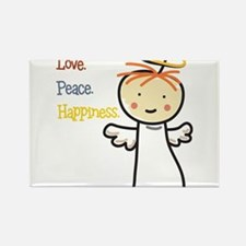 Love Peace & Happiness Rectangle Magnet
