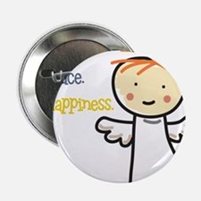 """Love Peace & Happiness 2.25"""" Button"""