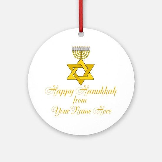 Custom Hanukkah Ornament (Round)