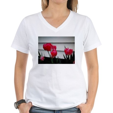 Tulips For Mother's Day Women's V-Neck T-Shirt