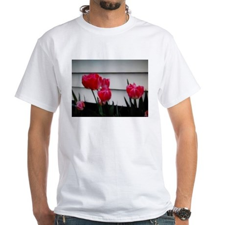 Tulips For Mother's Day White T-Shirt