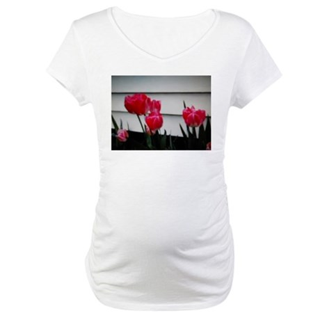 Tulips For Mother's Day Maternity T-Shirt