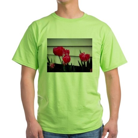 Tulips For Mother's Day Green T-Shirt