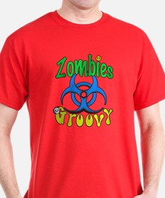 Zombies Groovy 3 T-Shirt