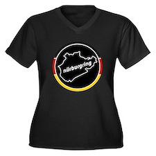 Nurburgring Women's Plus Size V-Neck Dark T-Shirt