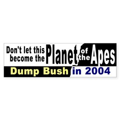 Planet of the Apes Bumper Bumper Sticker