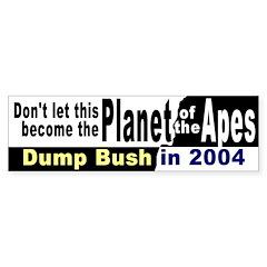 Planet of the Apes Bumper Bumper Sticker