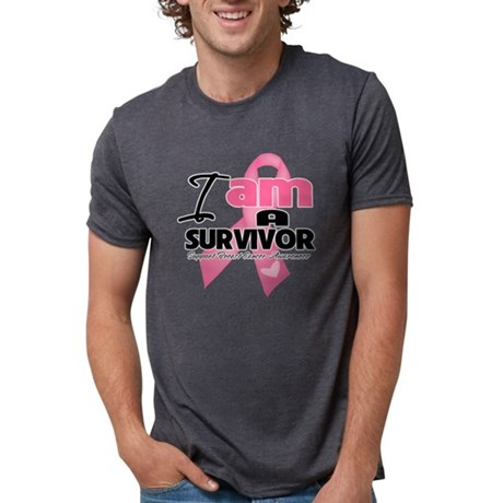 I am a Survivor - Breast Ca Mens Tri-blend T-Shirt