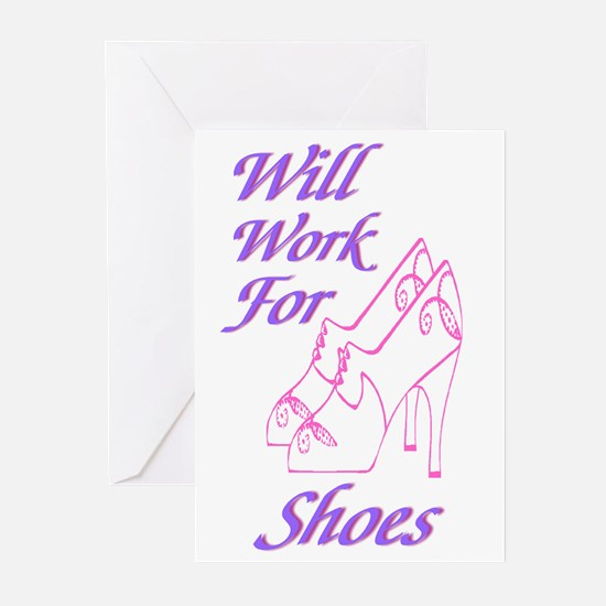 Teen College Shoes Greeting Cards (Pk of 10)