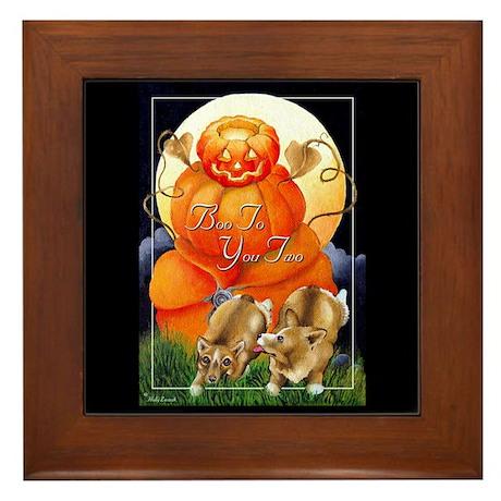 Corgi Halloween Framed Art Tile