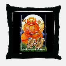 Corgi Halloween Throw Pillow
