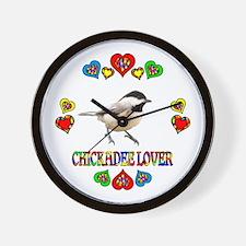 Chickadee Lover Wall Clock
